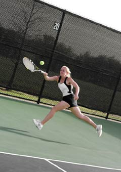 Multidirectional speed is all important in tennis and other power sports